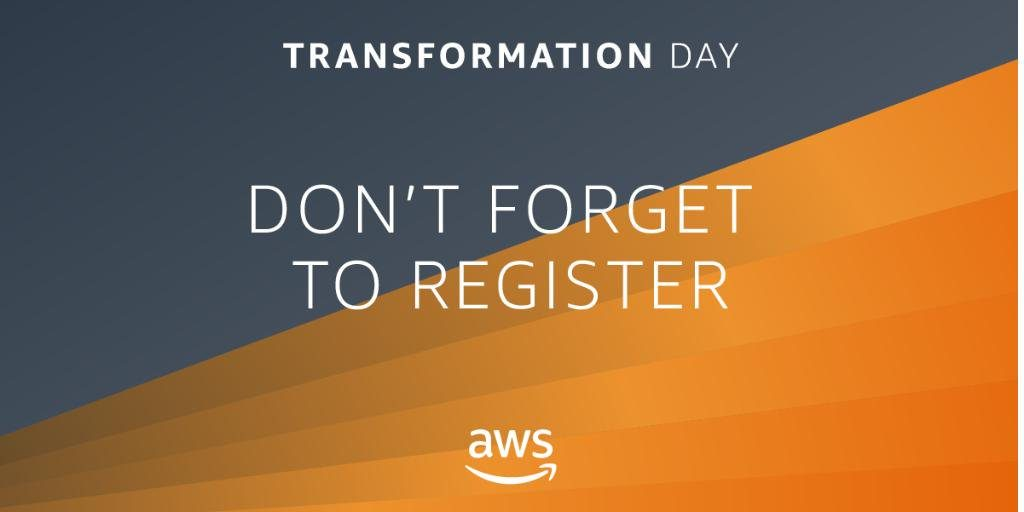 AWS Transformation Day Banner