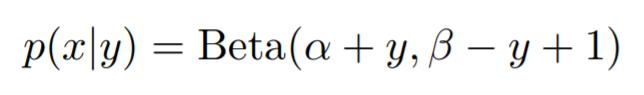 Beta binomial distribution