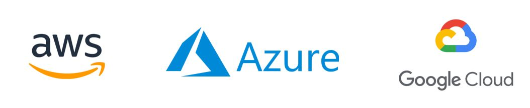 Azure, AWS & Google Cloud Logos