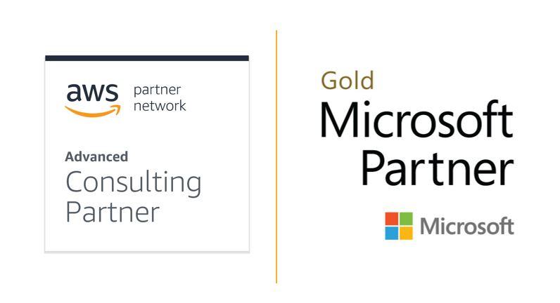 AWS & Microsoft Partner Logos