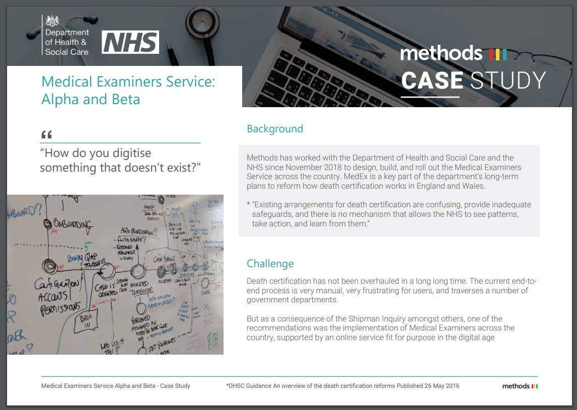 Medical examiners case study