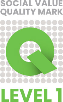 Social Value Quality Mark Level 1 Logo